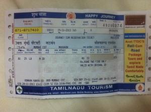 Indian Train Ticket