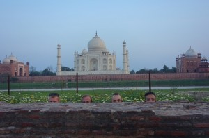 View of Taj from across the water