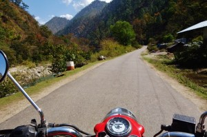 Riding in the mountains and across the border