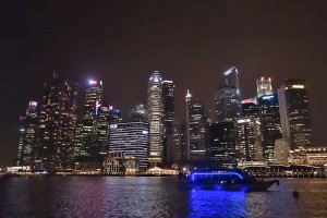 Clarke Quay Singapore Skyline @ night