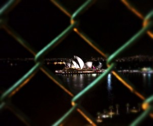 Opera House through Wire