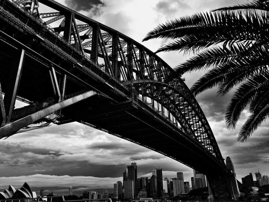 Sydney Harbour Bridge Black n White